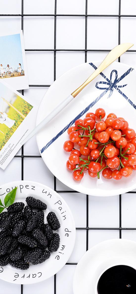 水果 营养 绿叶 樱桃 桑葚