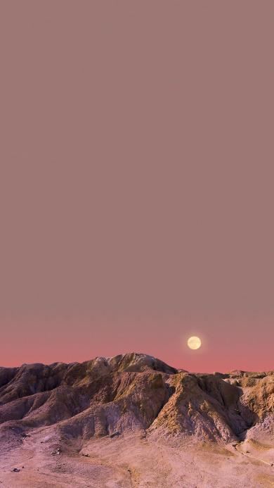 荒漠 日落 黄昏 大自然