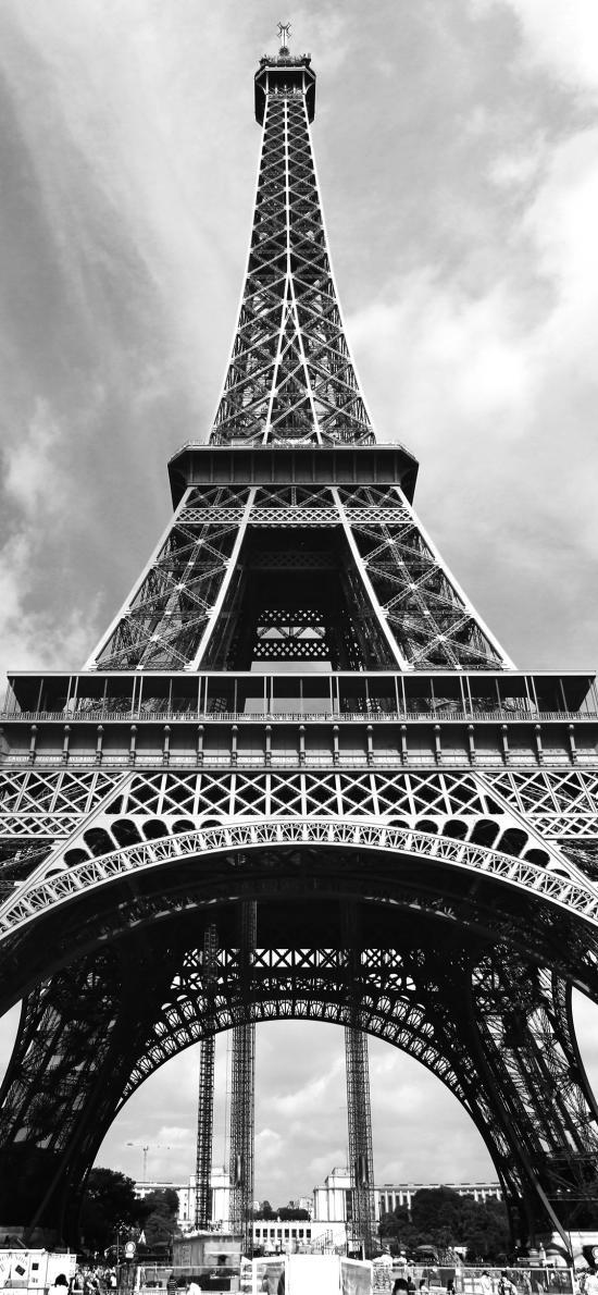 埃菲尔铁塔 黑白照 建筑 纽约