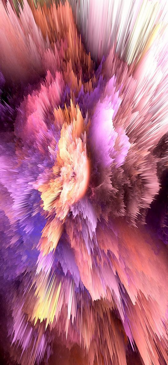 喷射 抽象 渐变 尖锐 空间 爆炸 紫色