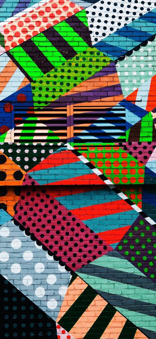 涂鸦 色彩 涂鸦墙
