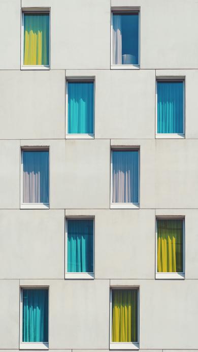 建筑 高楼 窗户 平铺