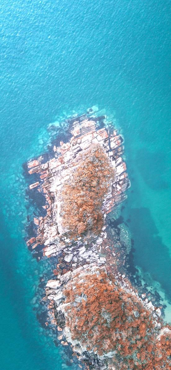 就是 蔚蓝 海湾 海岸 俯拍