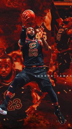 詹姆斯 篮球 运动员 球星 NBA 上篮