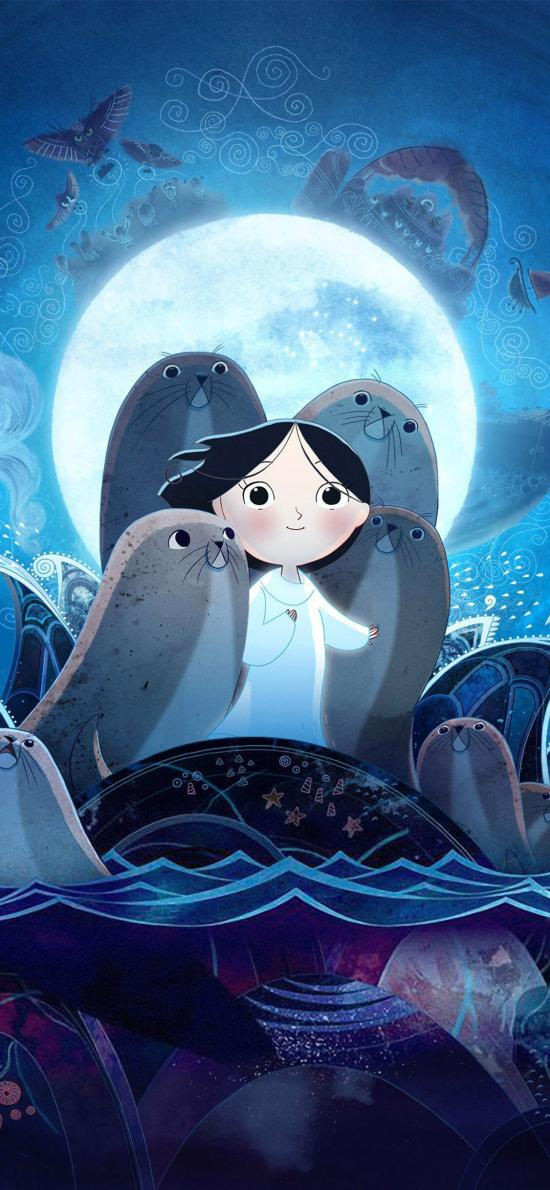 海洋之歌 西尔莎 小海豹 蓝色