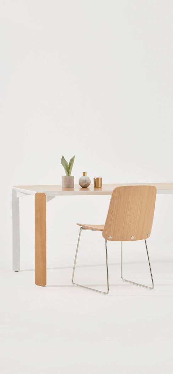 桌椅 家居 简约 盆栽