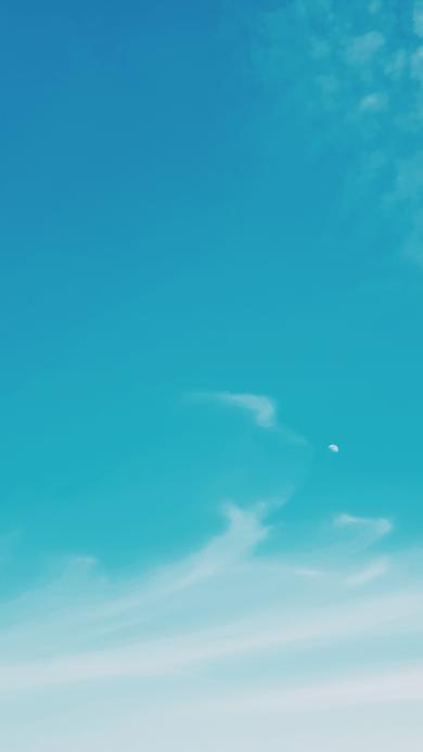蓝天 白云 渐变 天空