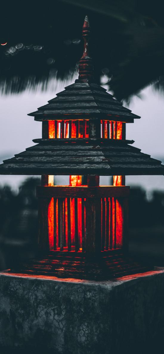 庭院 灯塔 光亮 烛火