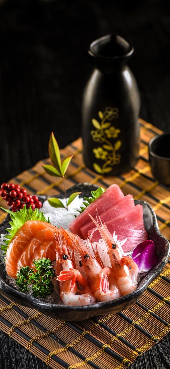 寿司 生鲜 三文鱼 海虾 日式