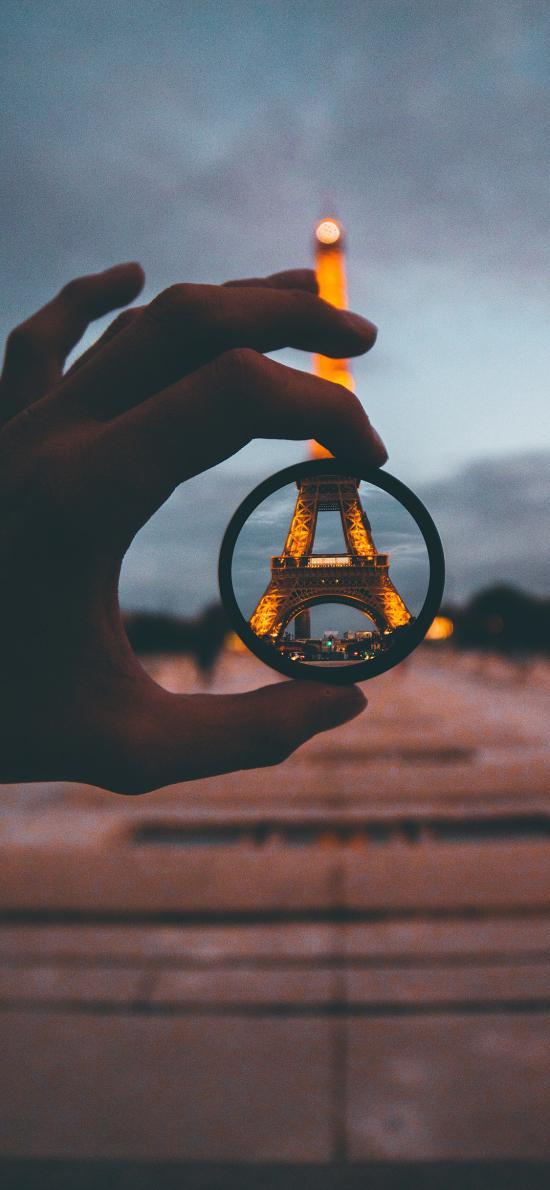 景点 巴黎铁塔 镜头