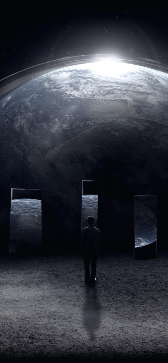 太空 宇宙 背影 星球 地球