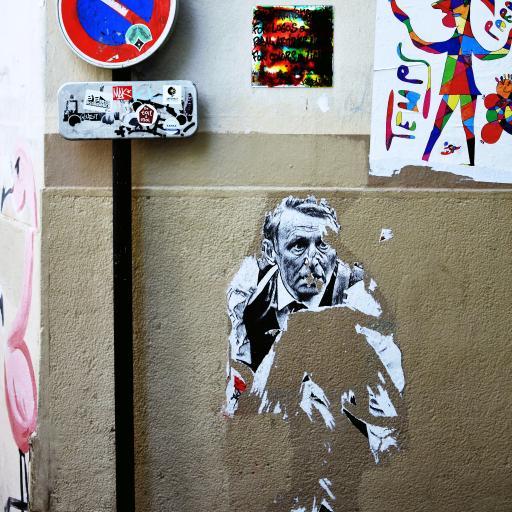 街头 艺术 墙绘 老人