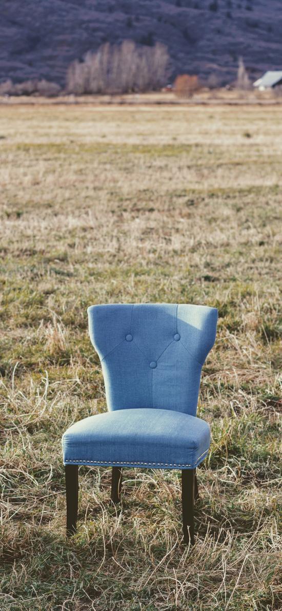 郊外 草地 椅子 特写