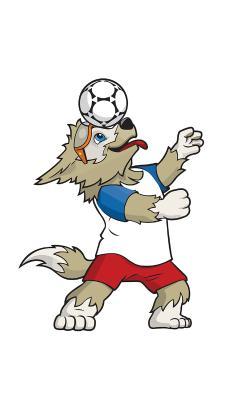 世界杯 西伯利亚狼 扎比瓦卡 吉祥物 足球