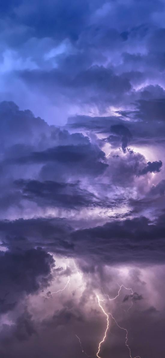 闪电 乌云 天气 气候 天空