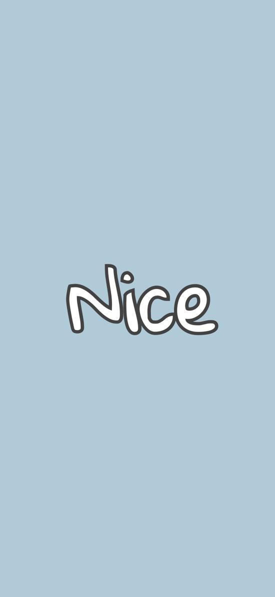 纯色背景 单词 nice