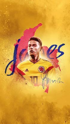 J罗 安德雷斯·伊涅斯塔 足球 运动员 球星 哥伦比亚 黄色