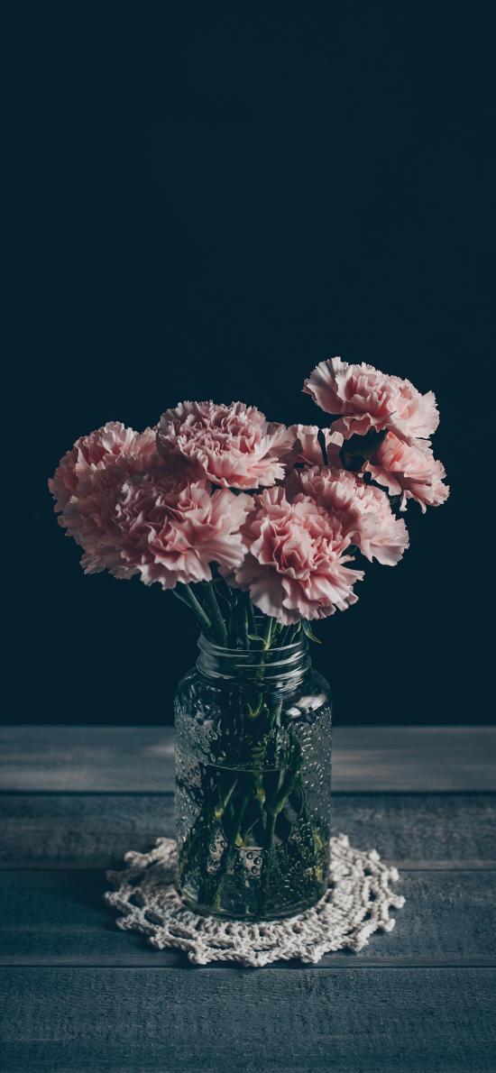 鲜花 康乃馨 花瓶 静物