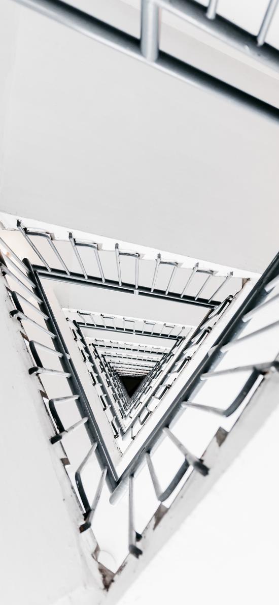 黑白 楼梯 三维 立体