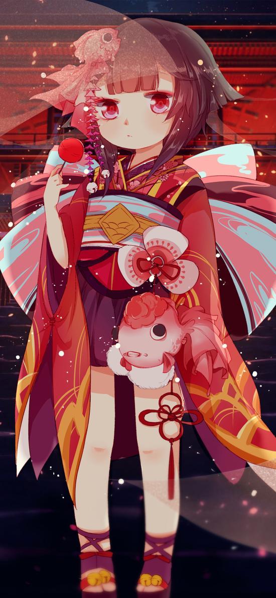 阴阳师 神乐 Q版 日系 和服 手游 角色