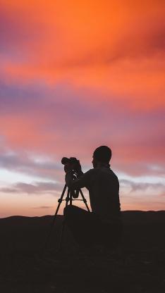 摄影 天空 夕阳 美景 火烧云
