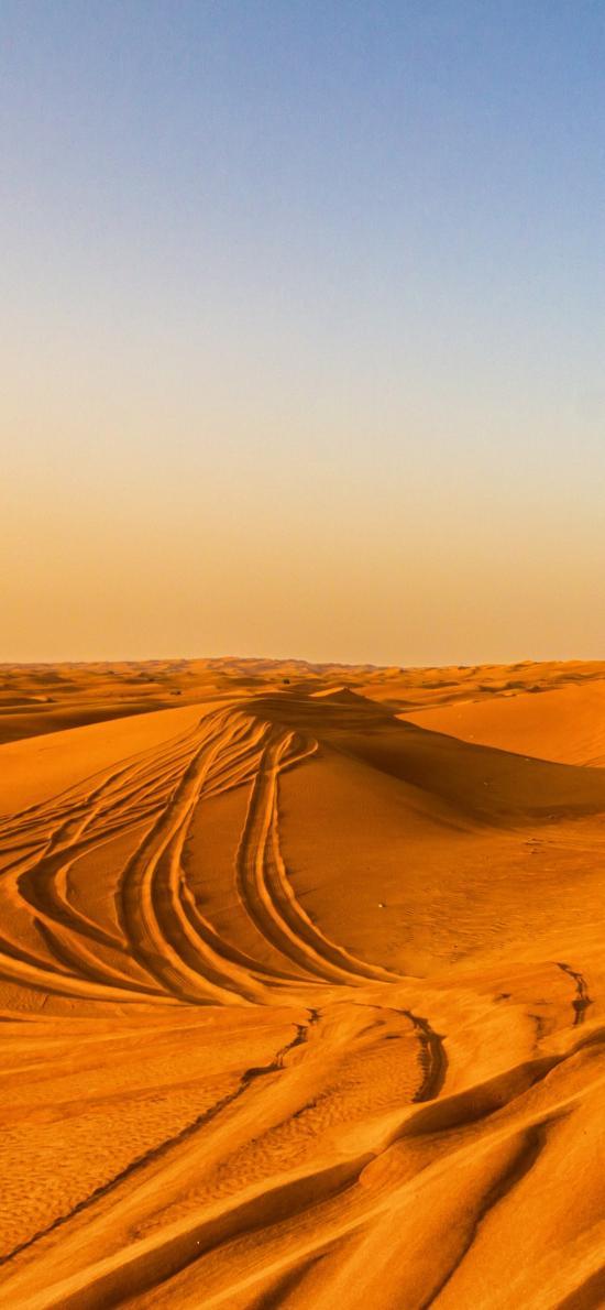 沙漠 荒凉 大自然 天空