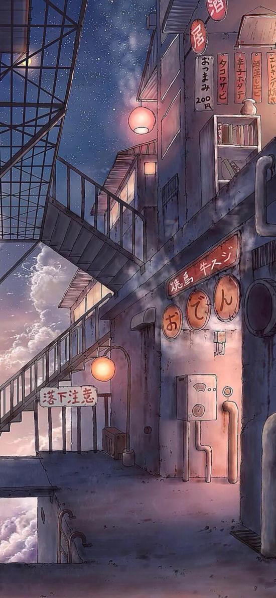 日系 动漫 场景 店铺