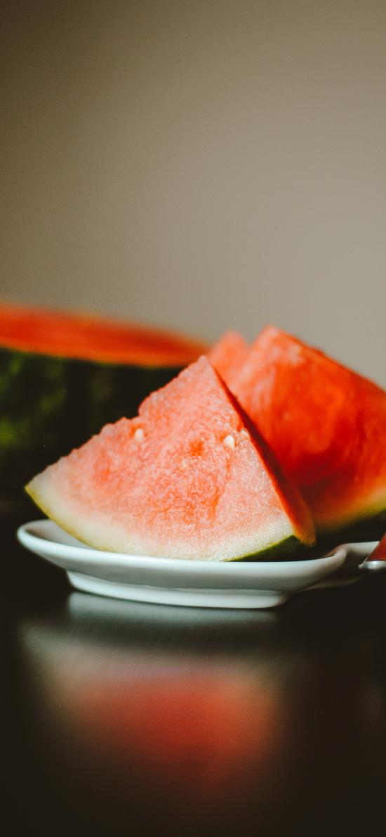 西瓜 夏日 水果 切块