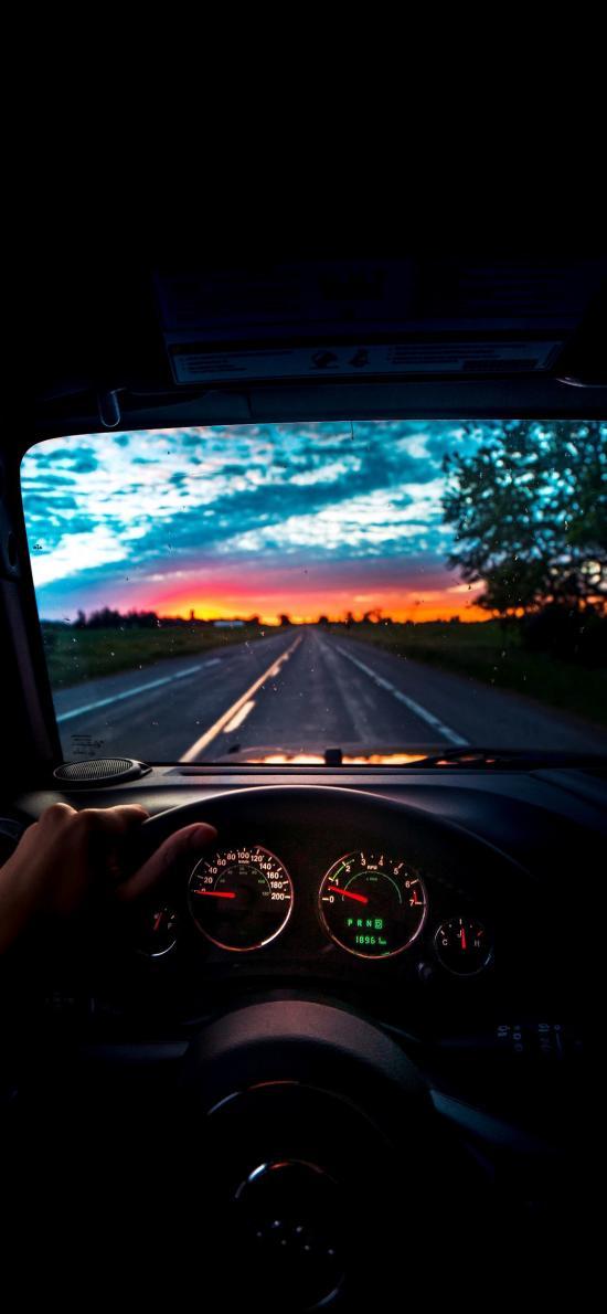 行驶 驾驶 车辆 方向盘 道路