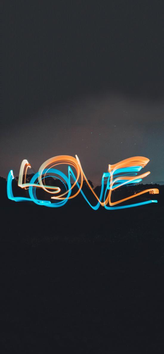 特效 光纤 LOVE 爱