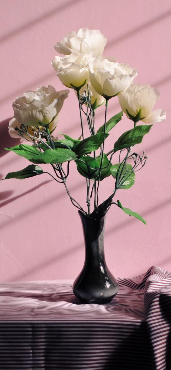 花瓶 插花 塑料花 装饰