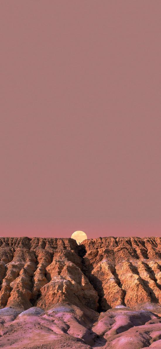 日落 地质 地貌 荒漠 大自然