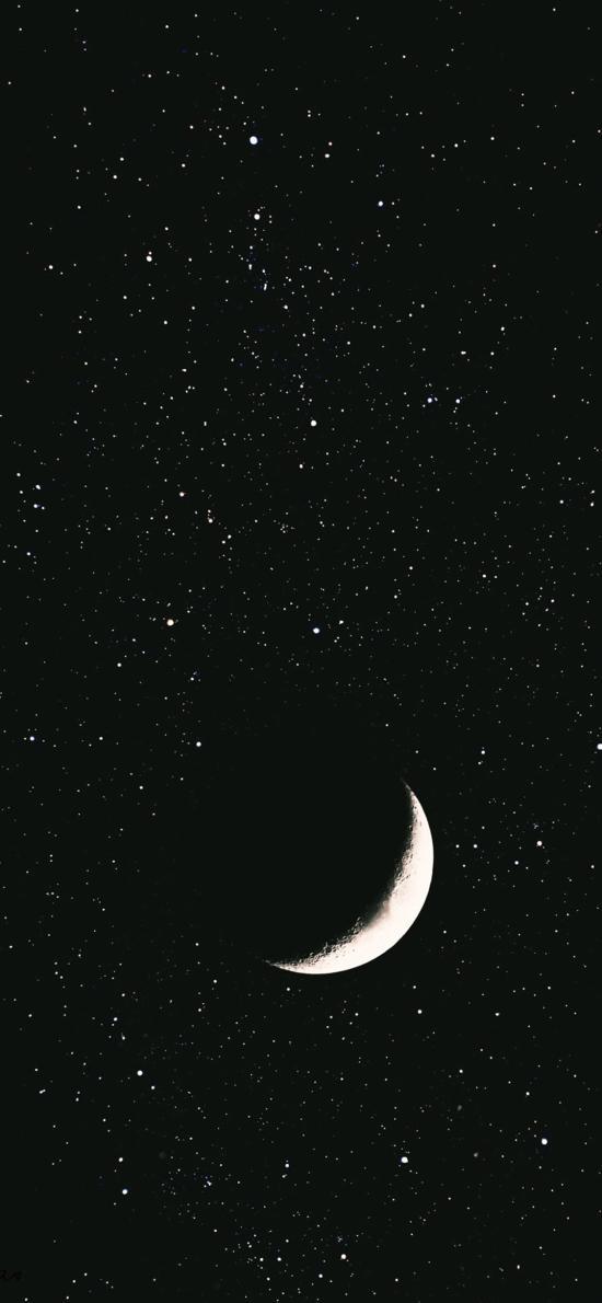 月球 月亮 星空 黑白 宇宙 太空 天文