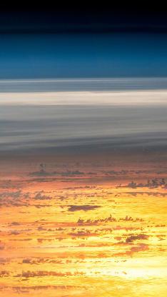 天空 唯美 渐变 云层 平流层