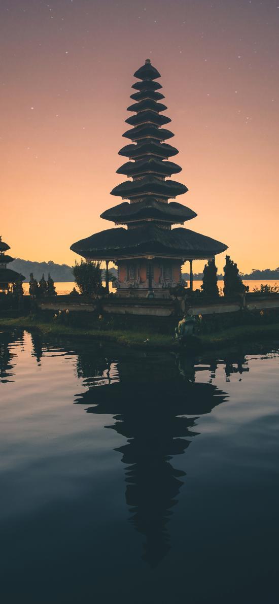 旅游胜地 巴厘岛 水神庙