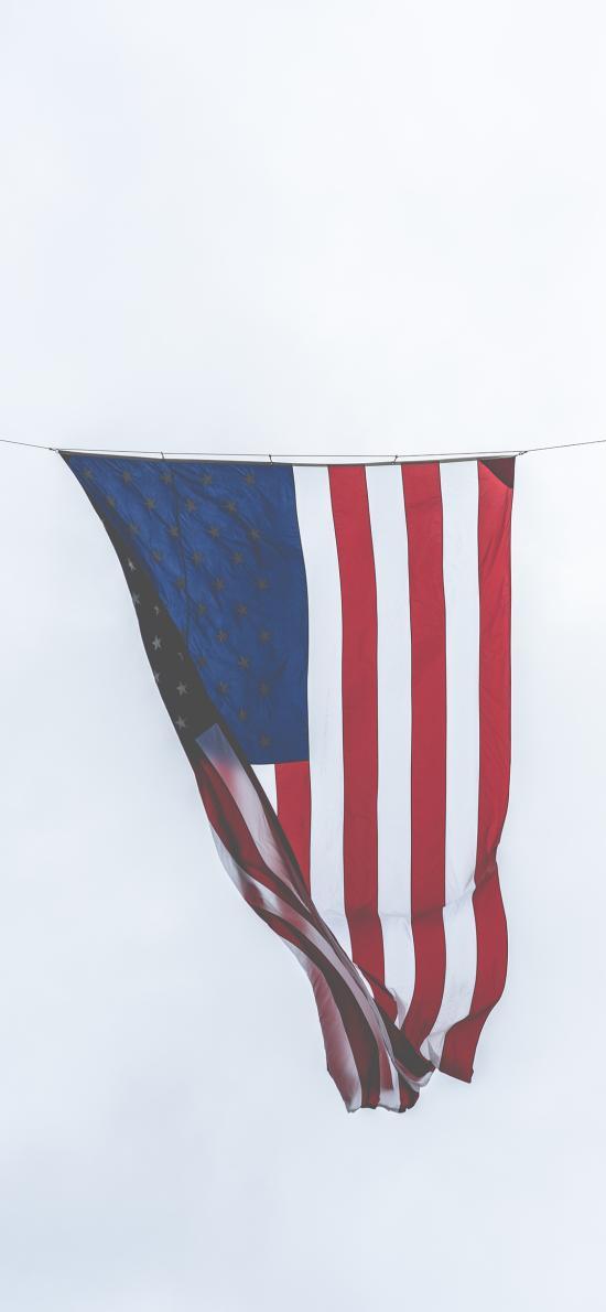 旗帜 美国 悬挂 标志