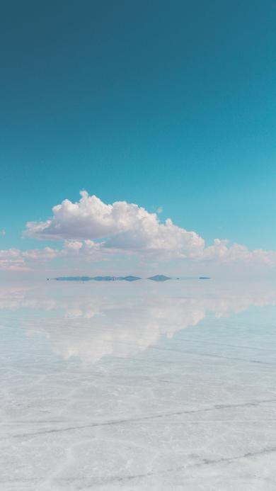 天空之静 唯美 镜面 倒映
