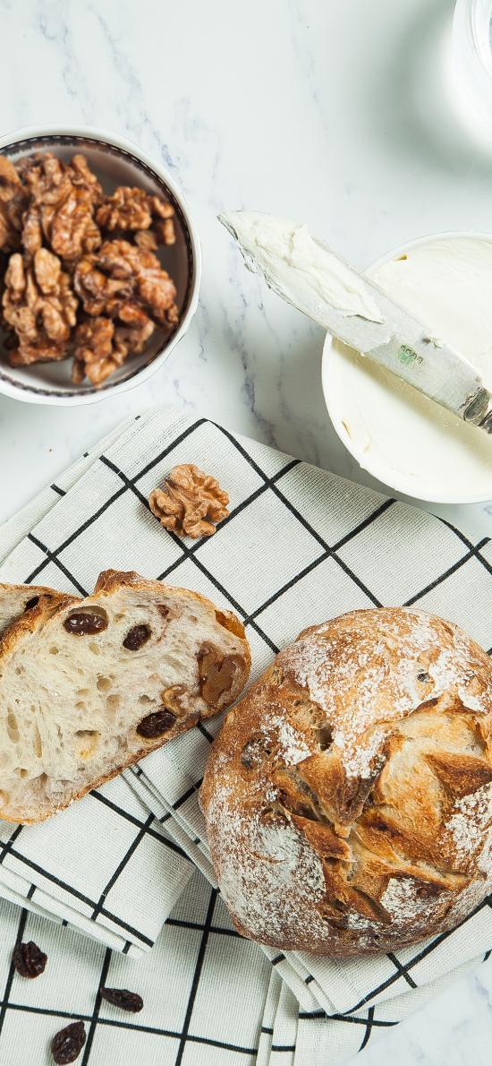 面包 下午茶 核桃 奶油