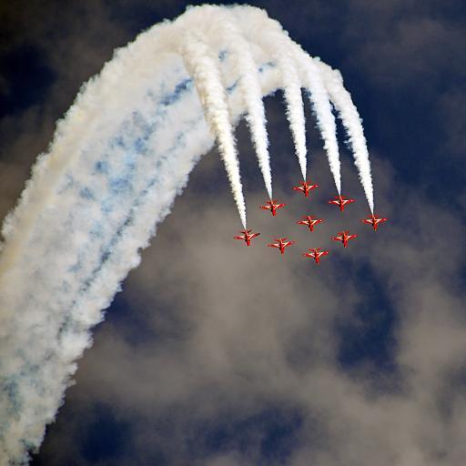 飞机 航展 排列 烟雾 飞行 航空