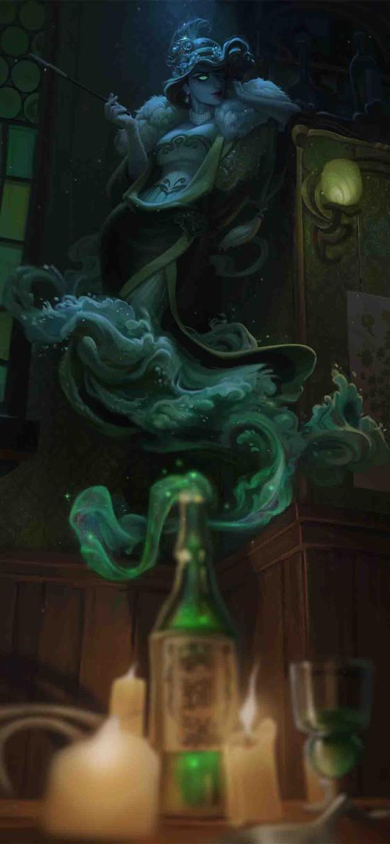 游戏插画 CG原画 瓶子 精灵