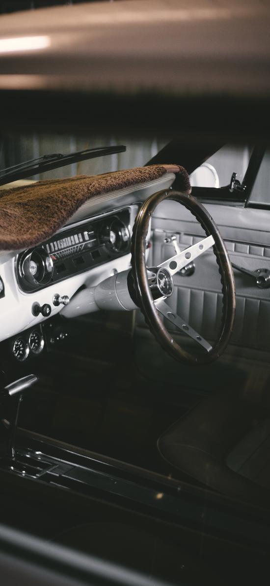 内饰 方向盘 汽车