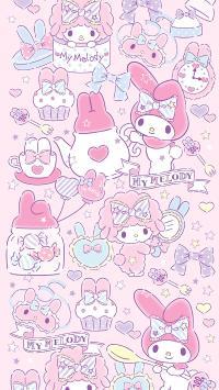 melody 卡通 粉色 少女 可爱 卡通