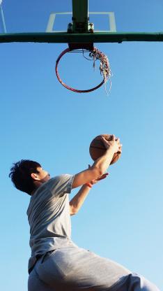 上篮 篮球 球框 运动