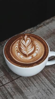 咖啡 拉花 杯子 奶泡