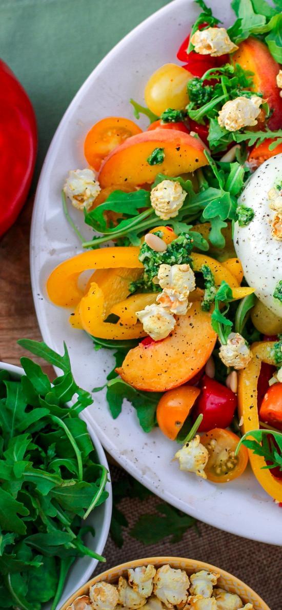 沙拉 甜椒 蔬菜 健康