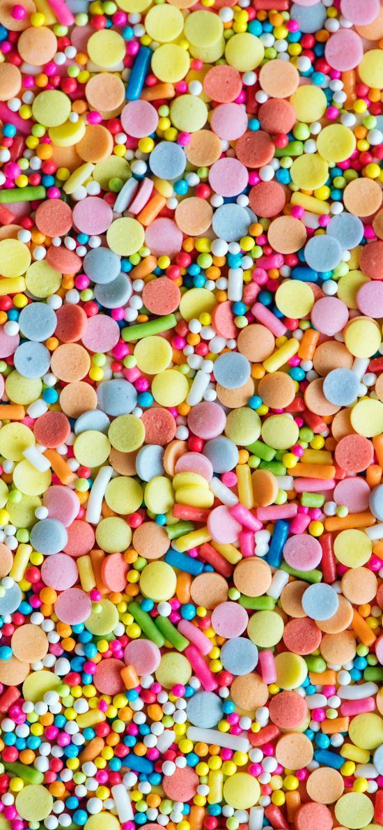 密集 色彩 颗粒 平铺