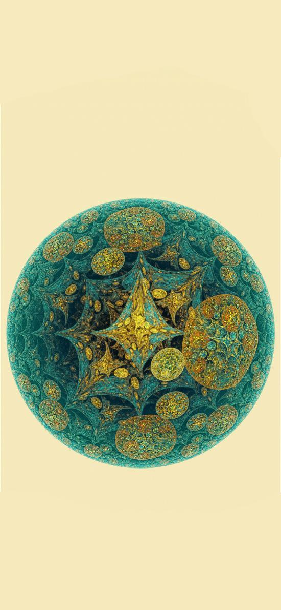 色彩 球形 花纹 插画