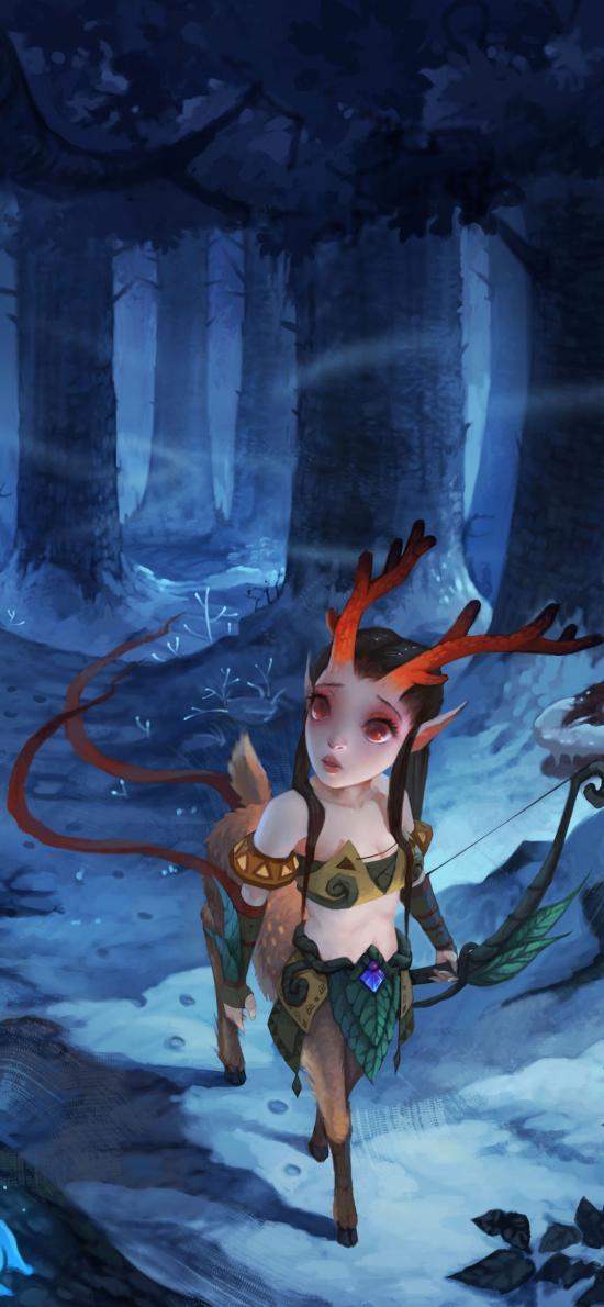 神仙道 原画 手游 迷失的鹿女郎