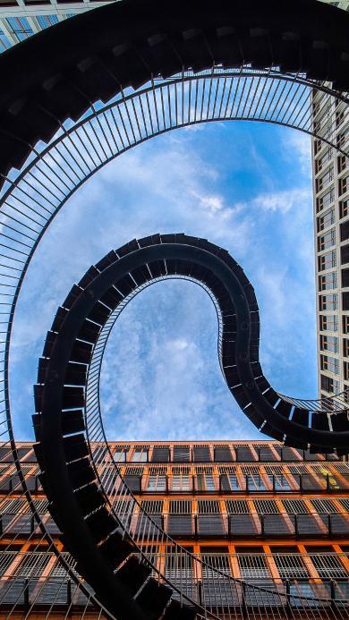 建筑 高楼 螺旋楼梯 特色