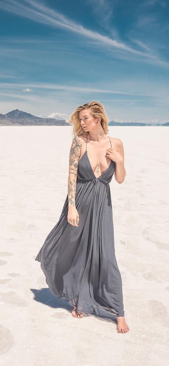 室外 沙漠 美女写真 性感